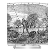 Trolling For Jack, 1850 Shower Curtain