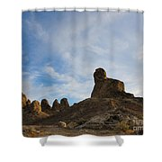 Trona Pinnacles 2 Shower Curtain
