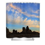 Trona Pinnacles At Sunset Shower Curtain