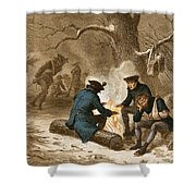 Troops At Valley Forge Shower Curtain