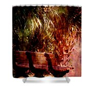 Tropical Bench Shower Curtain