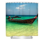 Tropical Boat Shower Curtain