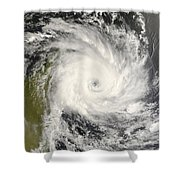 Tropical Cyclone Ivan Over Madagascar Shower Curtain