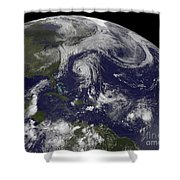 Tropical Cyclones Katia, Lee, Maria Shower Curtain