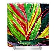 Tropical Foliage Shower Curtain