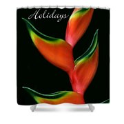 Tropical Holiday Card Shower Curtain