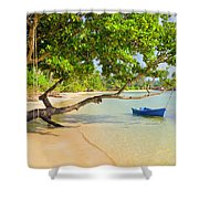 Tropical Island Scenery Shower Curtain