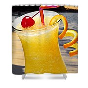 Tropical Orange Drink Shower Curtain