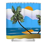 Tropical Outlook Shower Curtain