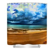 Tropical Seasonal Monsoon Rain V2 Shower Curtain
