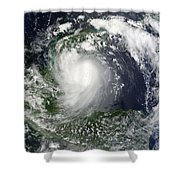 Tropical Storm Karl Over The Yucatan Shower Curtain