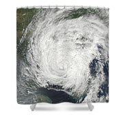 Tropical Storm Muifa Over China Shower Curtain