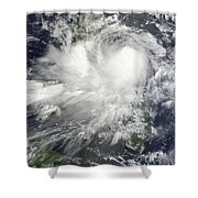 Tropical Storm Nock-ten Shower Curtain