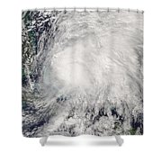 Tropical Storm Noel Over The Bahamas Shower Curtain