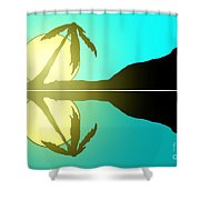 Tropical Sunrise Number 5 Shower Curtain
