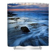 Tropical Sunrise Swirl Shower Curtain