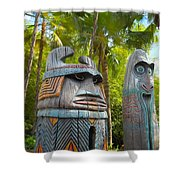 Tropical Tikis Shower Curtain