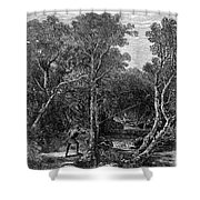 Trout Fishing, 1867 Shower Curtain by Granger
