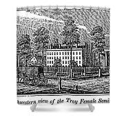 Troy Female Seminary, 1841 Shower Curtain