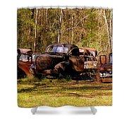 Truck Graveyard Shower Curtain
