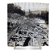 Truckee River - California - C 1865 Shower Curtain