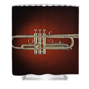 Trumpet Red Spotlight  Shower Curtain