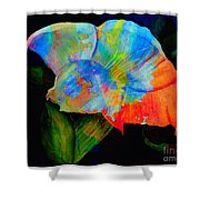 Trumpet With Watercolor Overlay Shower Curtain