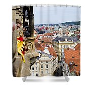 Trumpeter - Prague Old Town Square Shower Curtain