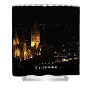 Truro Cathedral Illuminated Shower Curtain