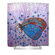 Trust Butterfly Shower Curtain