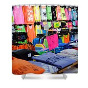 T's  Shower Curtain by Skip Willits