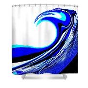 Tsunami Swell Shower Curtain