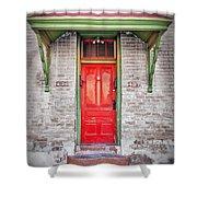 Tucson Red Door Shower Curtain