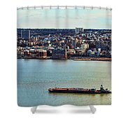 Tugboat On The Hudson Shower Curtain