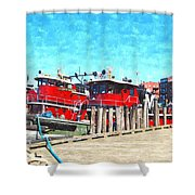Tugboat Twc Shower Curtain