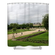 Tuileries Gardens 4 Shower Curtain