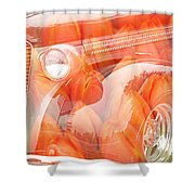 Tulip Car Abstract Shower Curtain