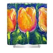 Tulip Gold Shower Curtain