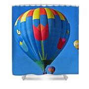 Tulip Hot Air Balloon Shower Curtain