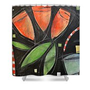 Tulips And Water Glass Shower Curtain