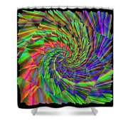 Tumbling Down The Rainbow Highway Shower Curtain