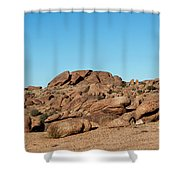 Tumbling Rocks Of Gold Butte Shower Curtain
