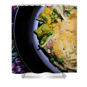 Tuna Noodle Casserole Shower Curtain by Andee Design