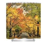 Tunnel Of Color Shower Curtain