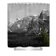 Tunnel View Selective Color Shower Curtain