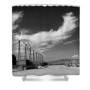 Turbine Town Palm Springs Shower Curtain