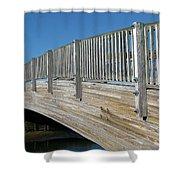 Turkey Point Bridge Shower Curtain