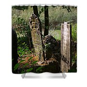 Turkish Cemetery In Rural Mugla Province Shower Curtain