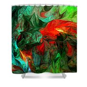 Turmoil  And Frustration Shower Curtain