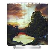 Turner's Sunrise Shower Curtain